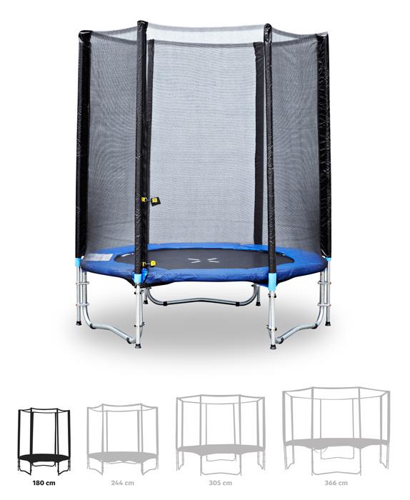Fitness King Trampolína 180 cm + ochranná síť