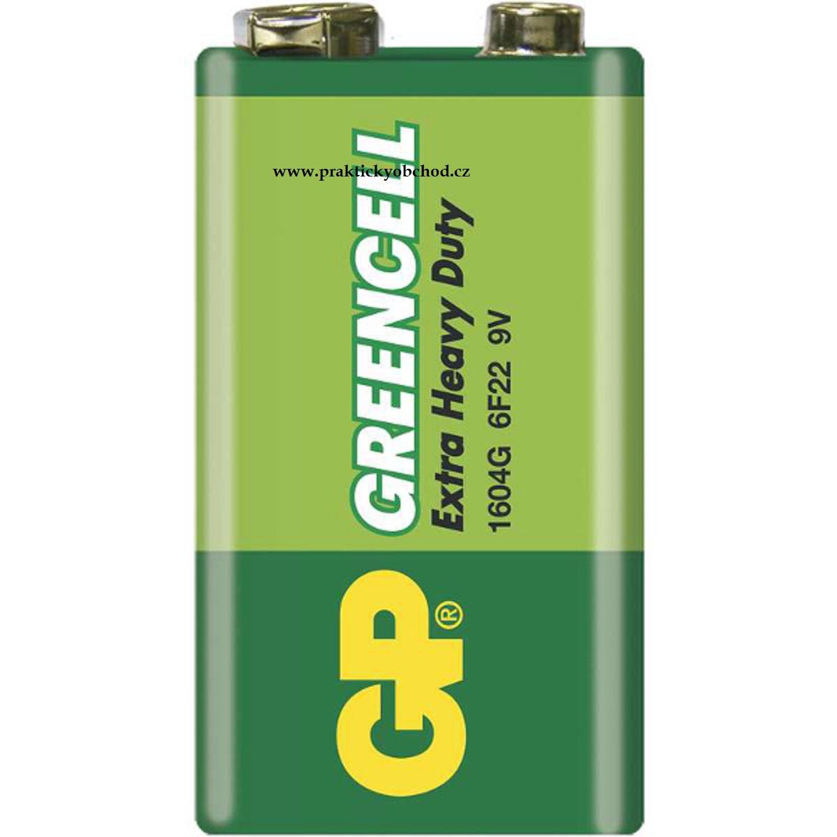 Fotografie Baterie GP Greencell 6F22 (9V, plochá)
