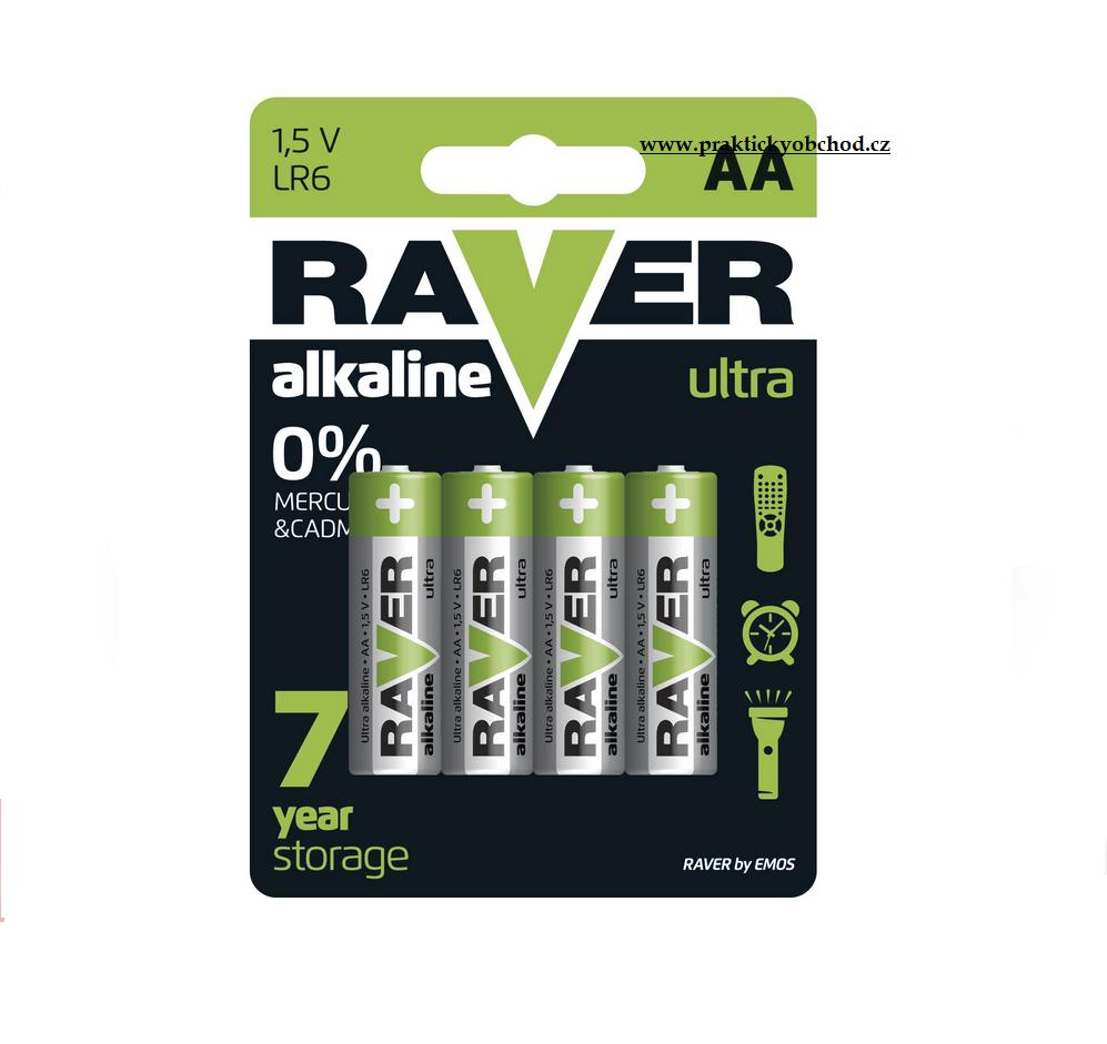 Fotografie Alkalická baterie RAVER AA 1 ks